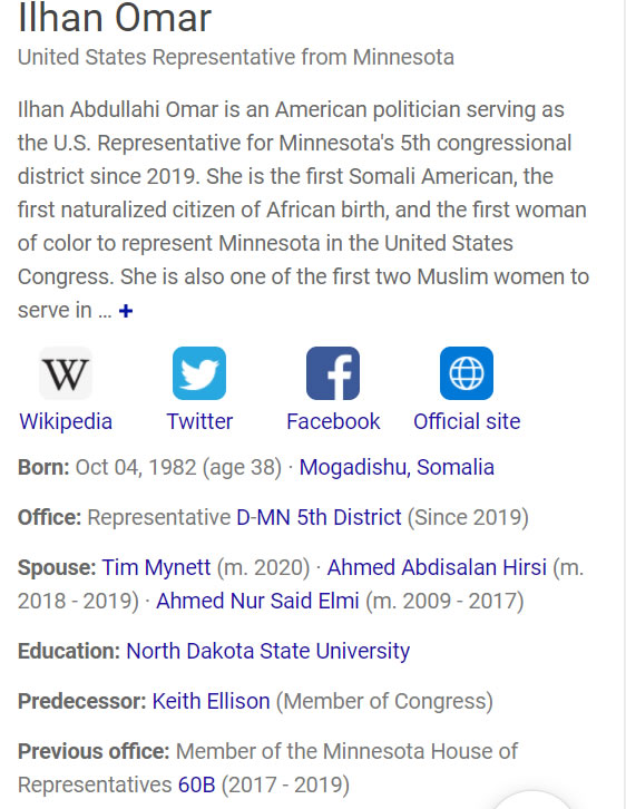 Ilhan Omar Connected Cash for Ballots Scheme