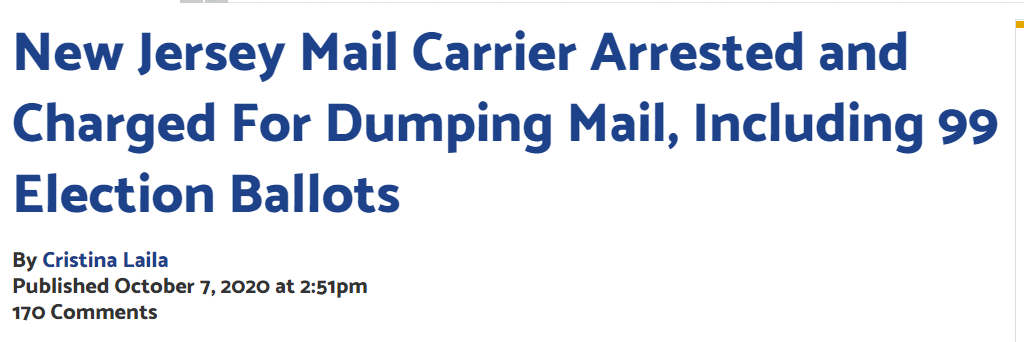 Trashed mail new jersey